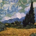 Van Gogh Wheatfields Cypress Tapestry