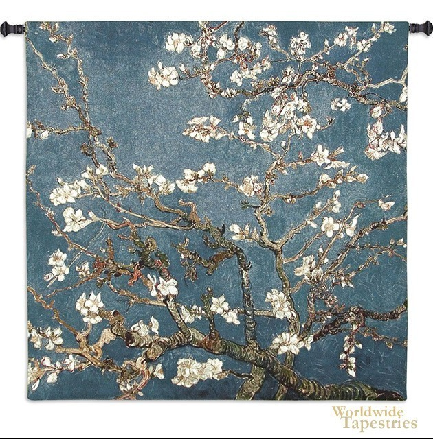 Asian Almond Blossom Tapestry