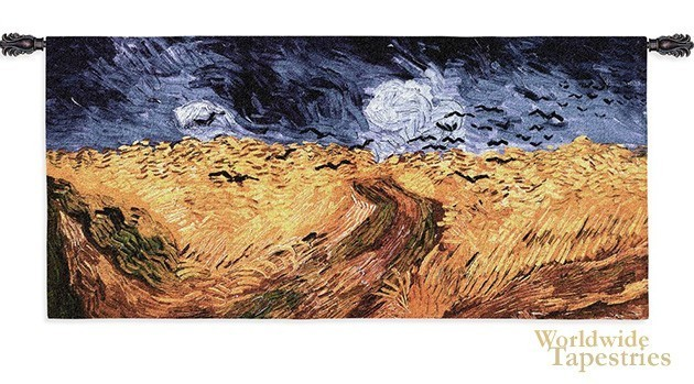 Wheatfields with crows
