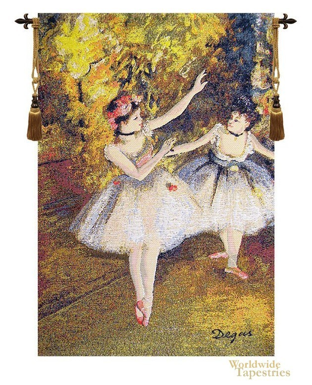 Degas Two Dancers On Stage