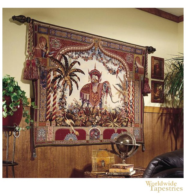 Imperial Elephant Oriental Tapestries Worldwide