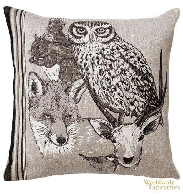 Forest Spirit Hibou Cushion Cover