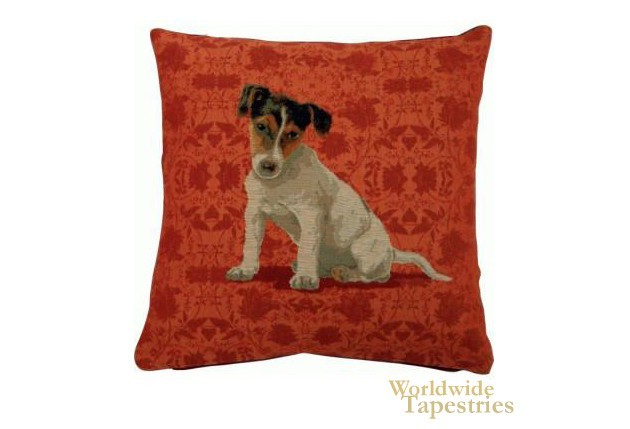 Jack Russel Red Cushion Cover