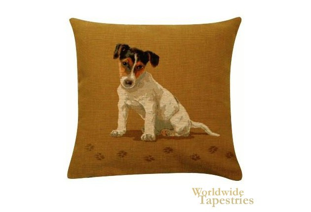 Jack Russel Light Brown Cushion Cover