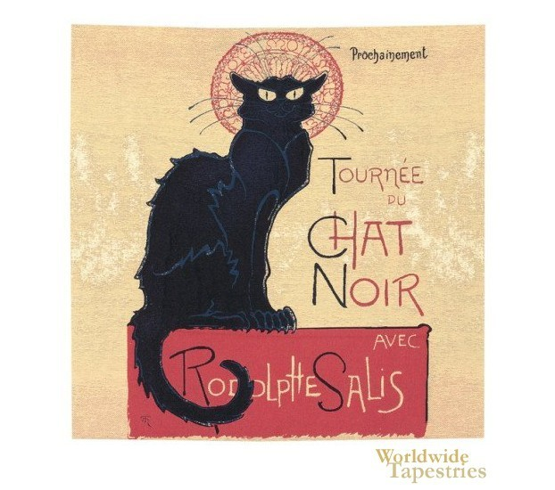 Tournee Du Chat Noir Cushion Cover