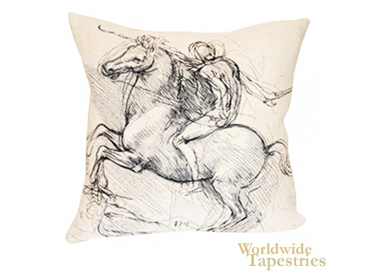Da Vinci's Chevalier Cushion Cover