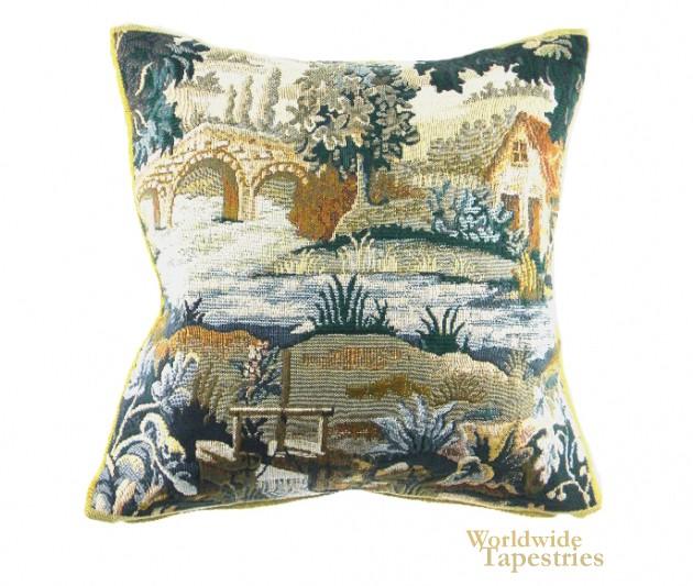 Paysage Flamand Bateau Cushion Cover