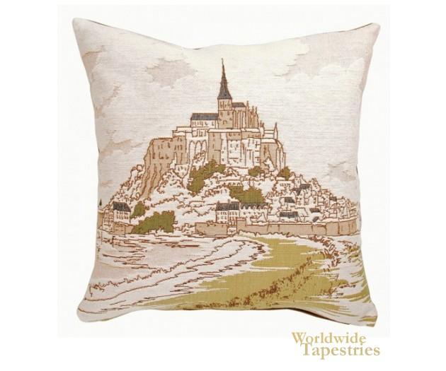 Mont Saint Michel I Cushion Cover