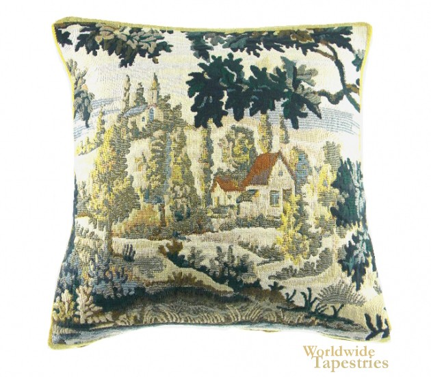 Paysage Flamand Village Cushion Cover