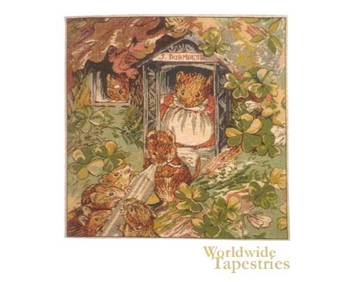 Beatrix Potter Miss Dormouse & Babies  Cushion Cover