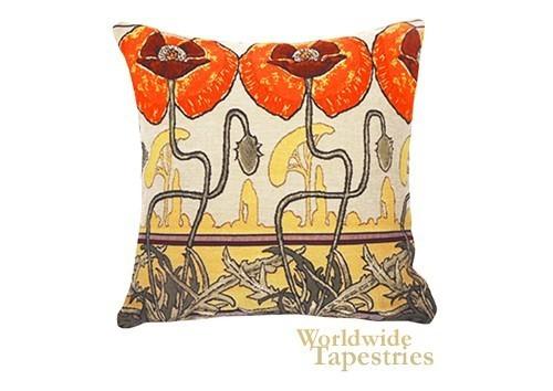 Pavots Art Nouveau Cushion Cover