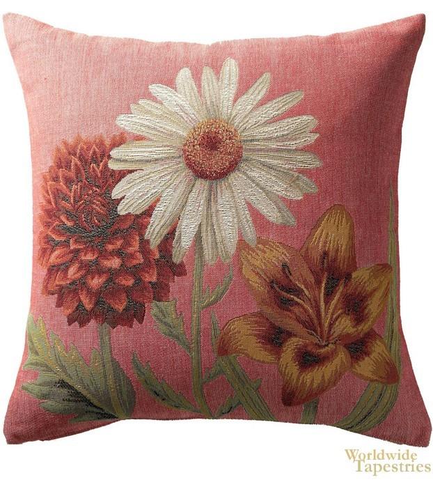 Fleurs Vives Rose Cushion Cover