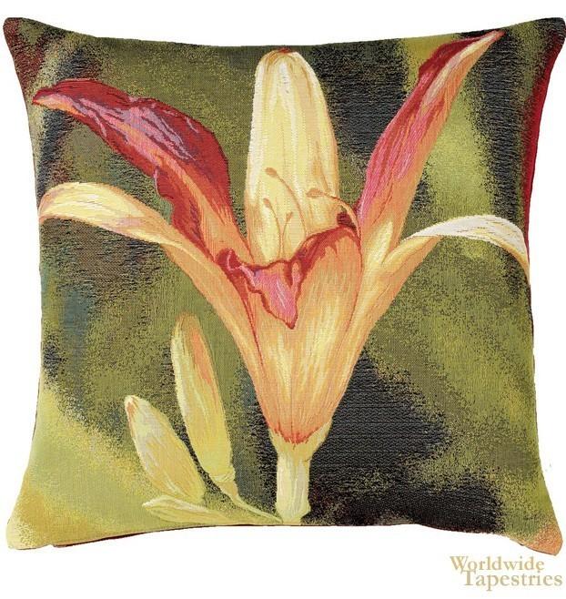 Fleur Orange Fond Cushion Cover