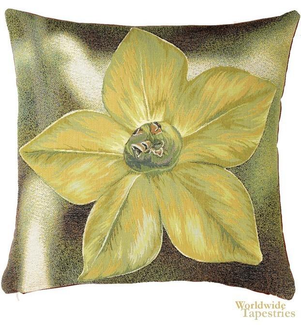 Fleur Etoilee Vert Cushion Cover