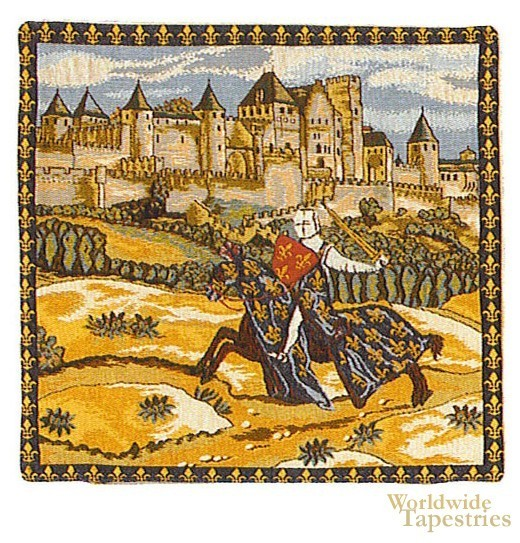 Medieval Knight Cushion Cover