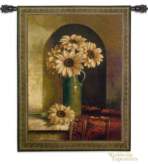 Sunflower with Persian Rug