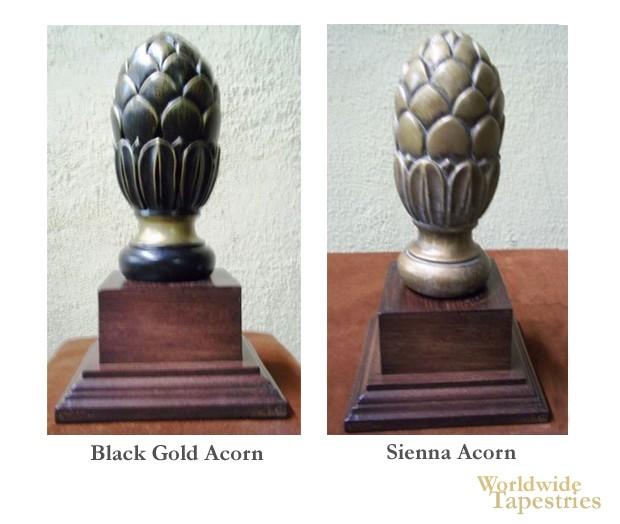 Acorn Finial Set