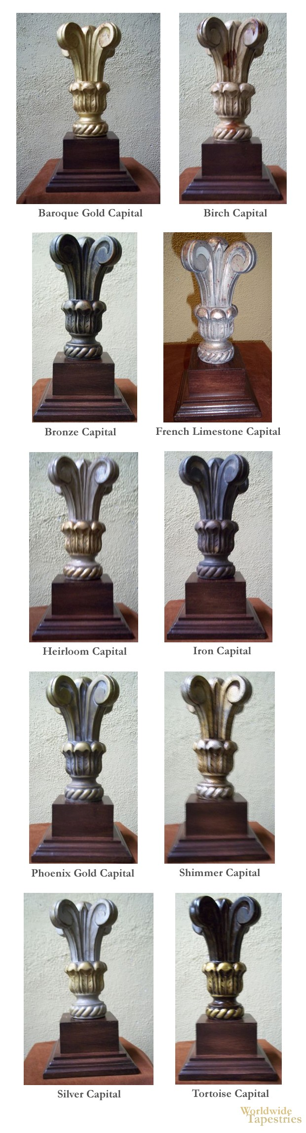 Capital Finial Set