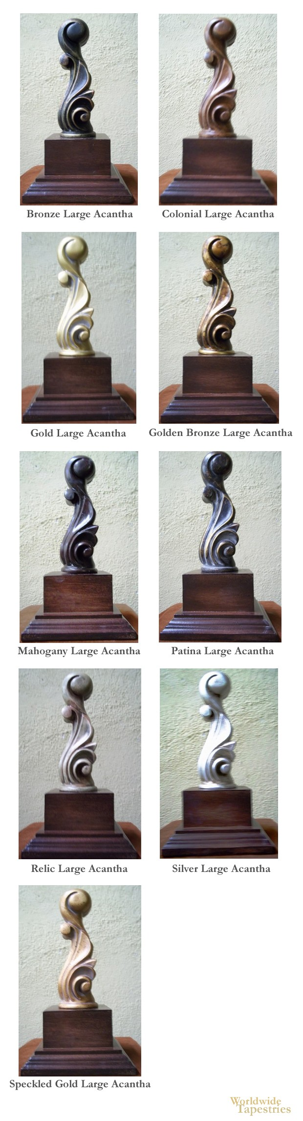 Large Acantha Finial Set