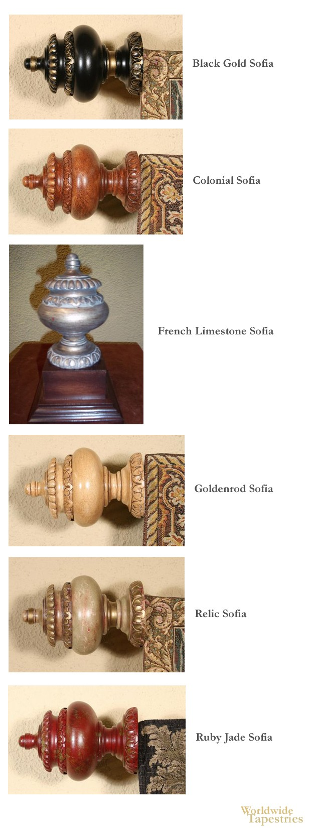 Sofia Finial Set