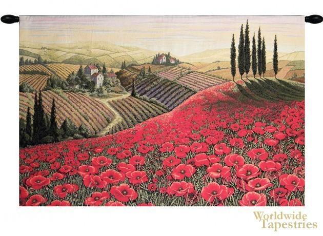 Tuscan Poppy Landscape