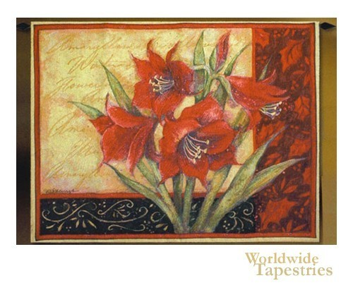 Amaryllis with Scroll