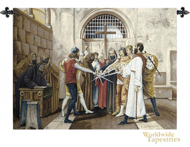 The Oath Tapestry Medieval Tapestries Worldwide