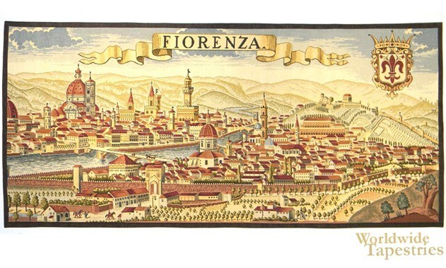 Florence Ancient Map Medieval Art Tapestries