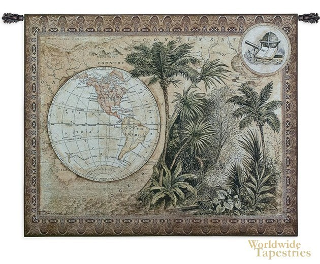 Global Safari II :: World map tapestries :: Worldwide Tapestries on