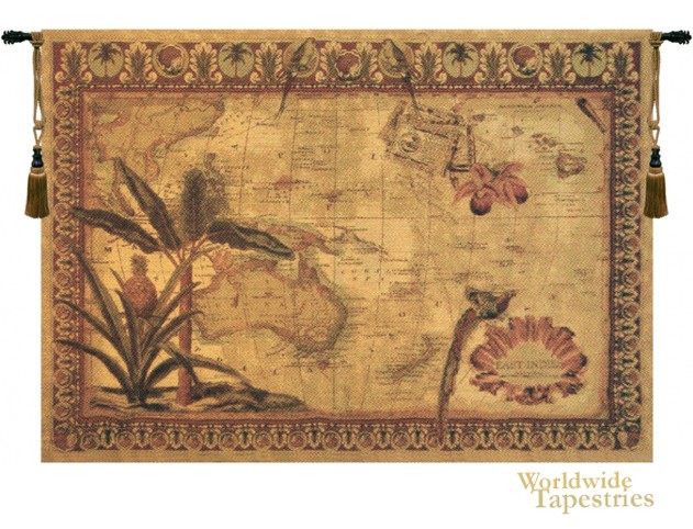 East Indies World Map Tapestry Worldwide Tapestries
