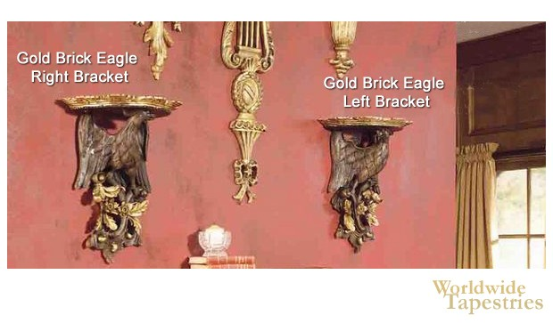 Gold Brick Eagle Bracket