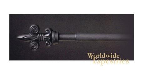 Fleur Black Finial Rod