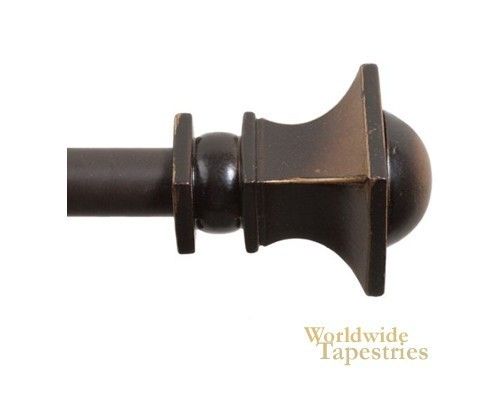 Square Roman Bronze Close To Wall Rod