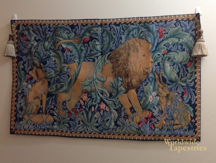 the lion tapestry image