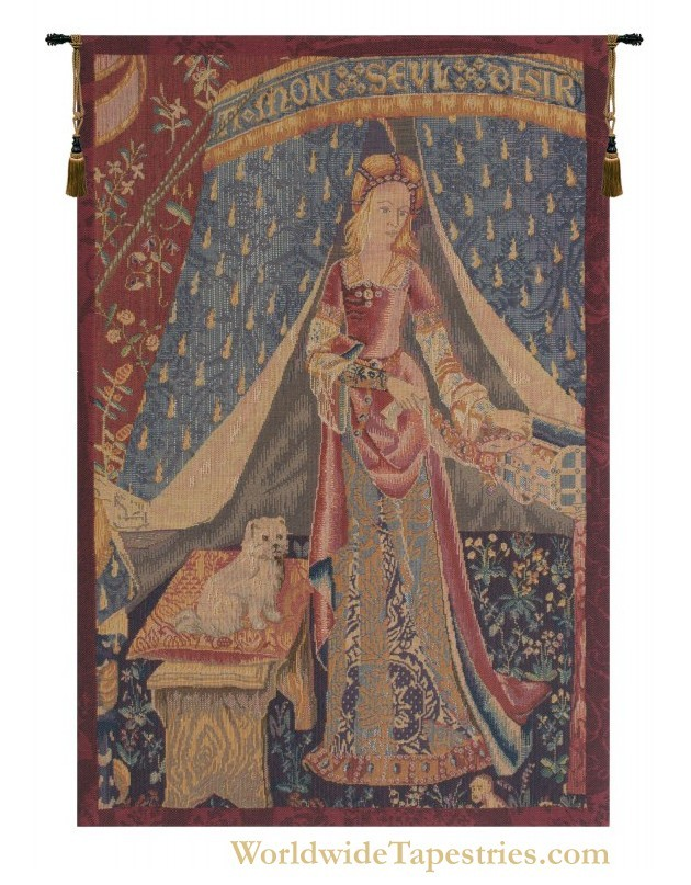 A Mon Seul Desir - Left Panel Tapestry