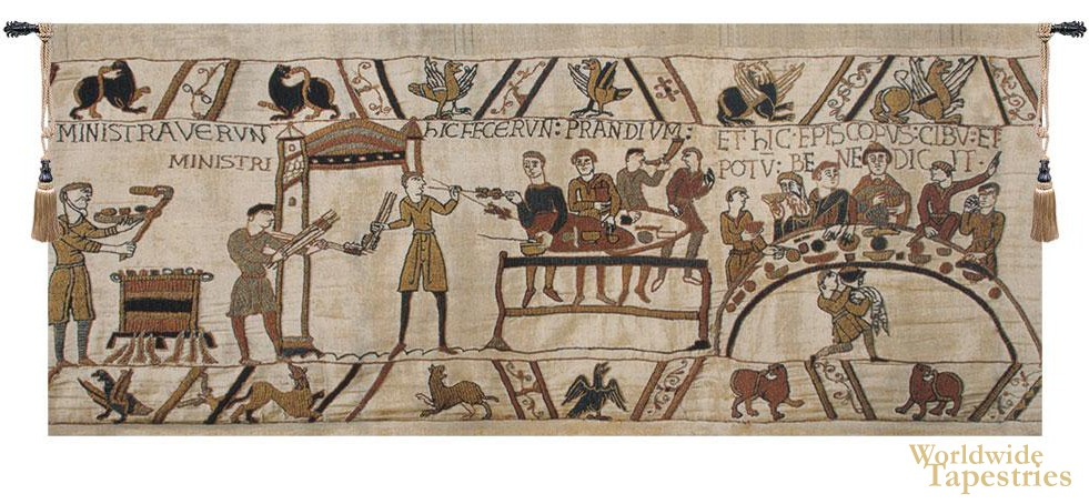 Bayeux Banquet Detail Tapestry