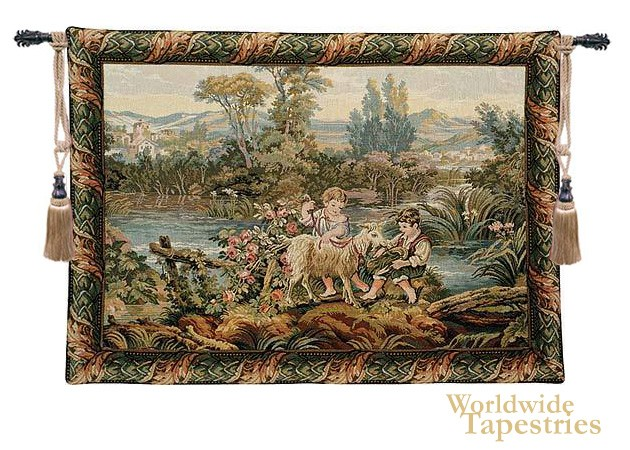 Children by the Lake Tapestry
