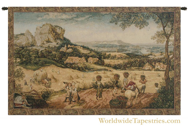 Collecting Hay Tapestry