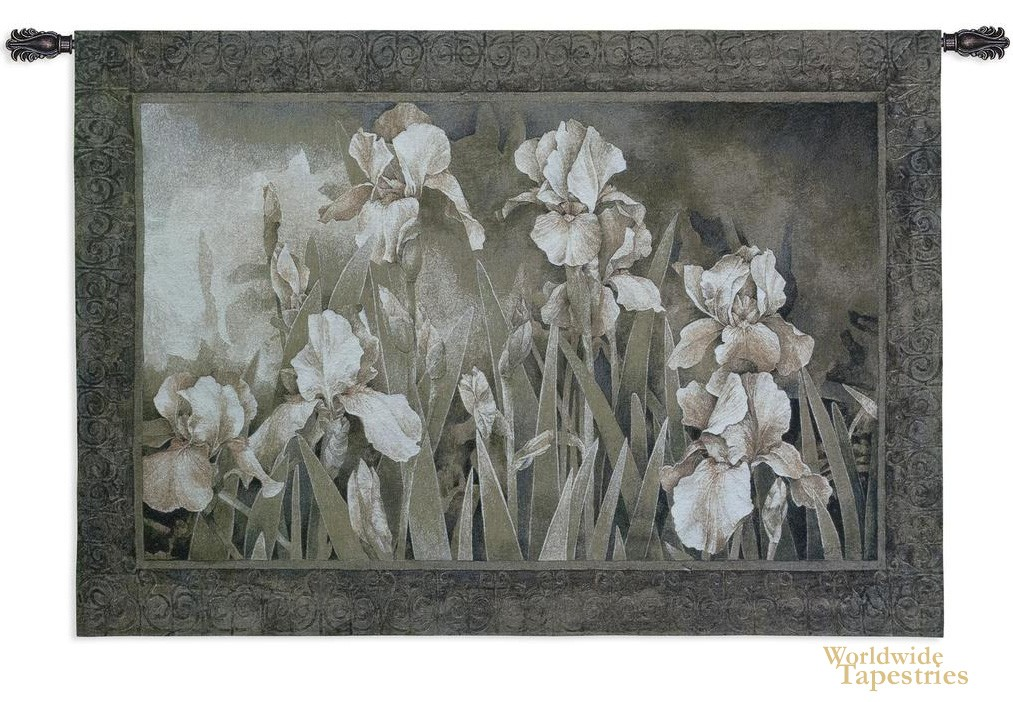 Field Of Irises Floral Tapestries Worldwide Tapestries