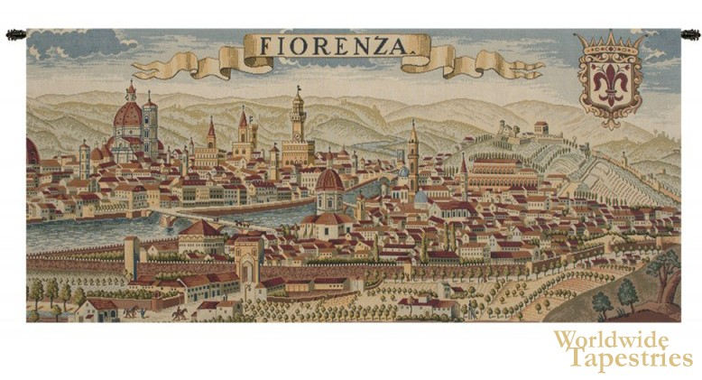 Florence Ancient Map Tapestry