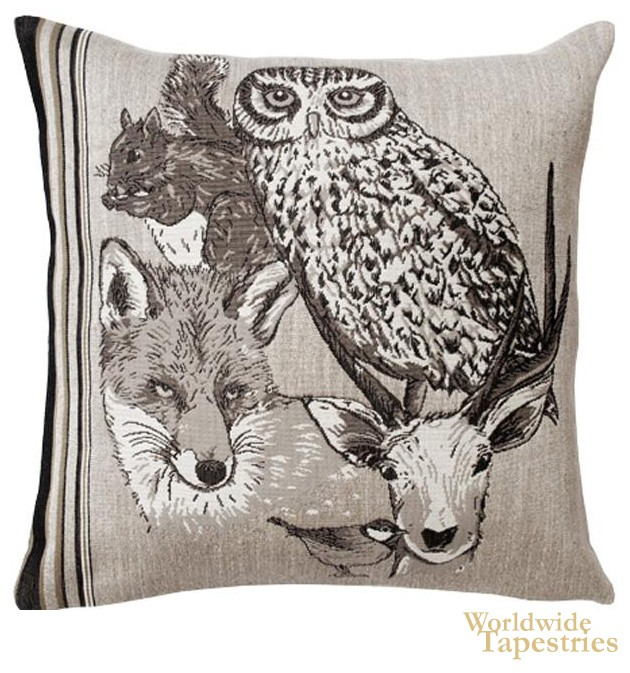 Forest Spirit Hibou Cushion Cover