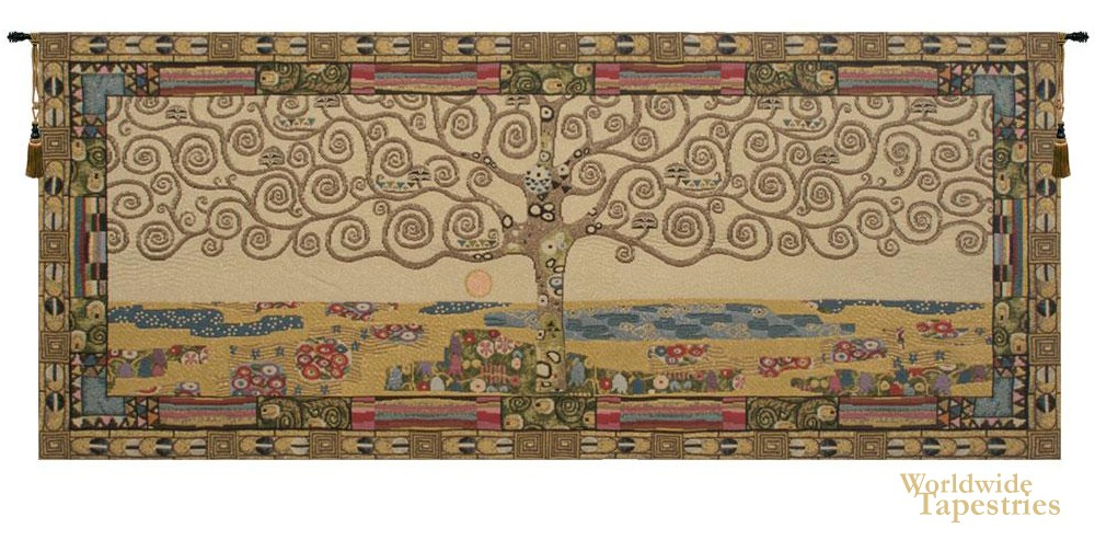 Klimt Tree of Life III Tapestry