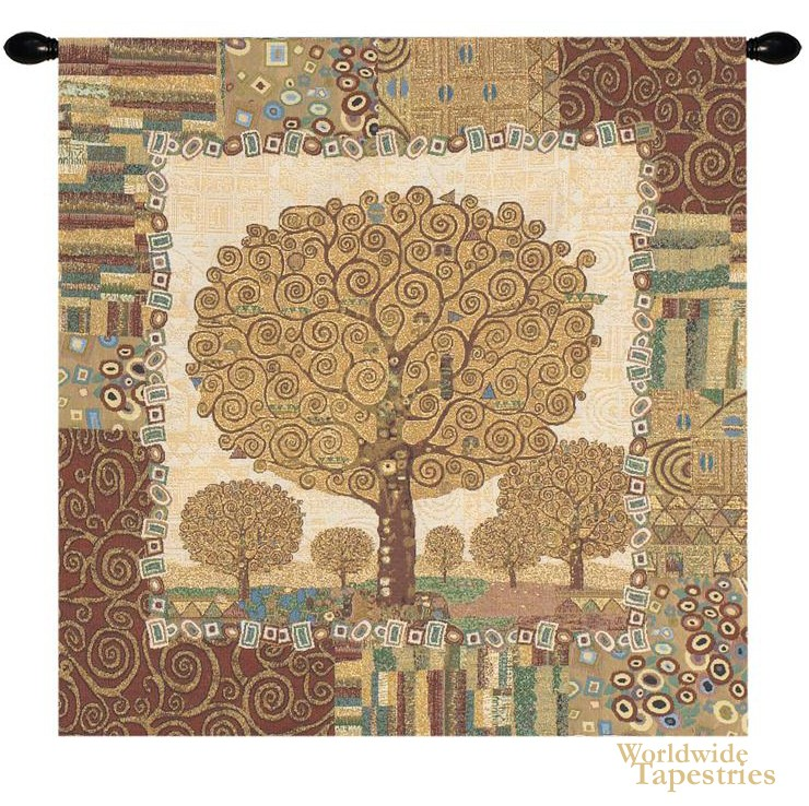 Klimt Tree Of Life Tapestry