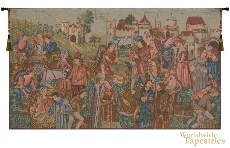 Marche au Vin Tapestry