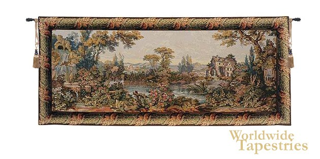 Mill by the Lake Tapestry