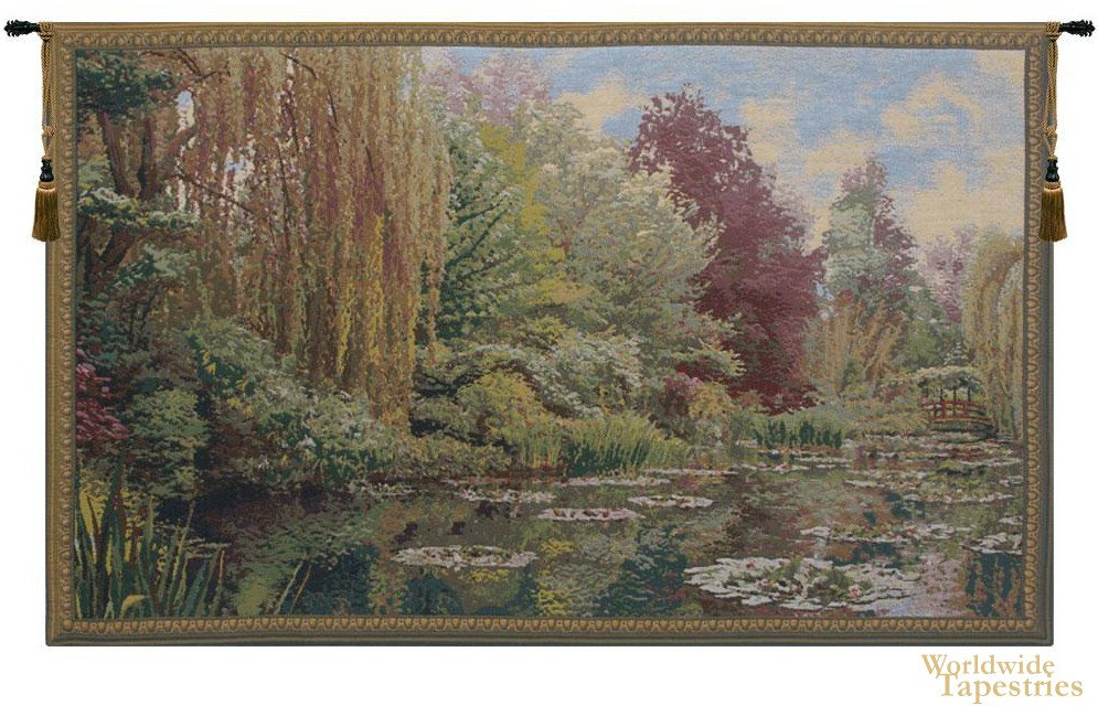 Monet Lake Giverny - Left Tapestry