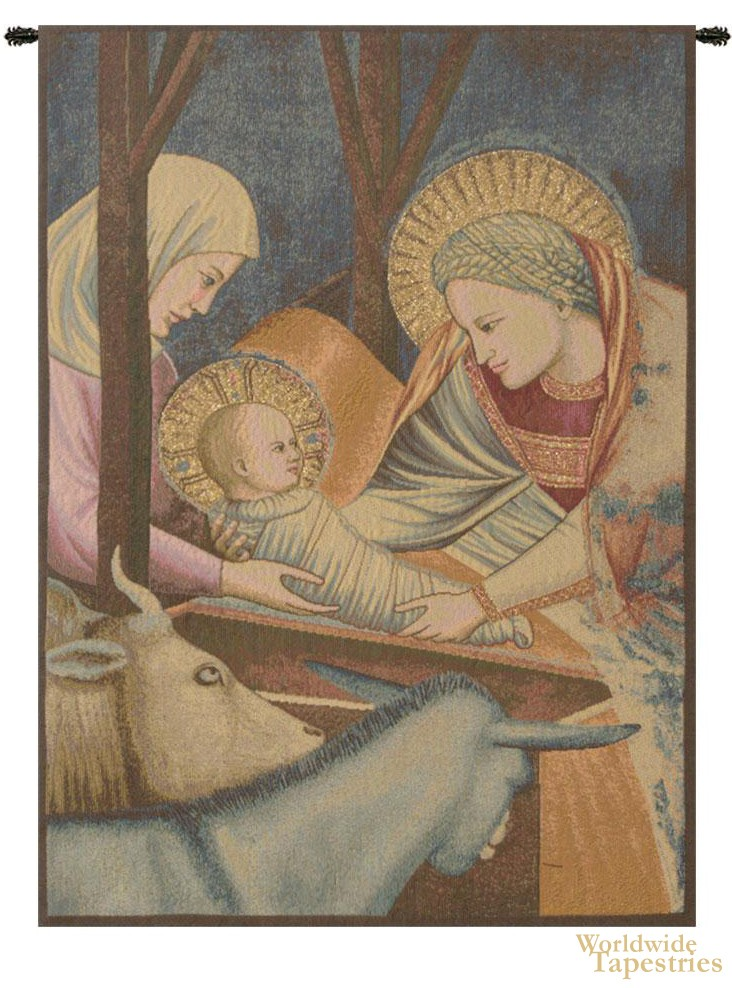 Nativity - Giotto (left panel) Tapestry