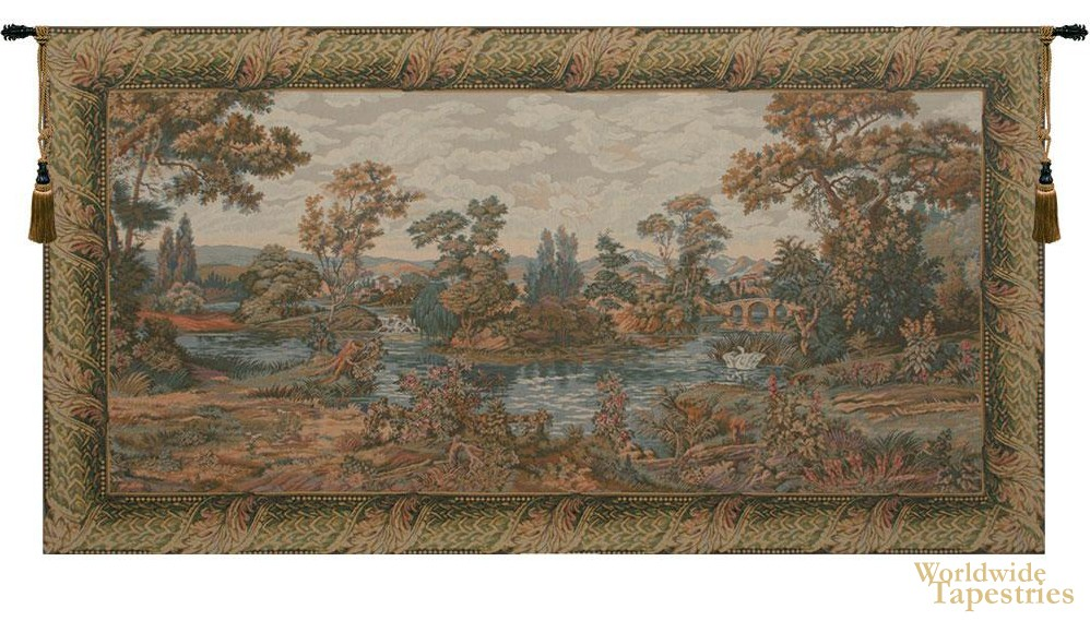 Swan in the Lake Tapestry