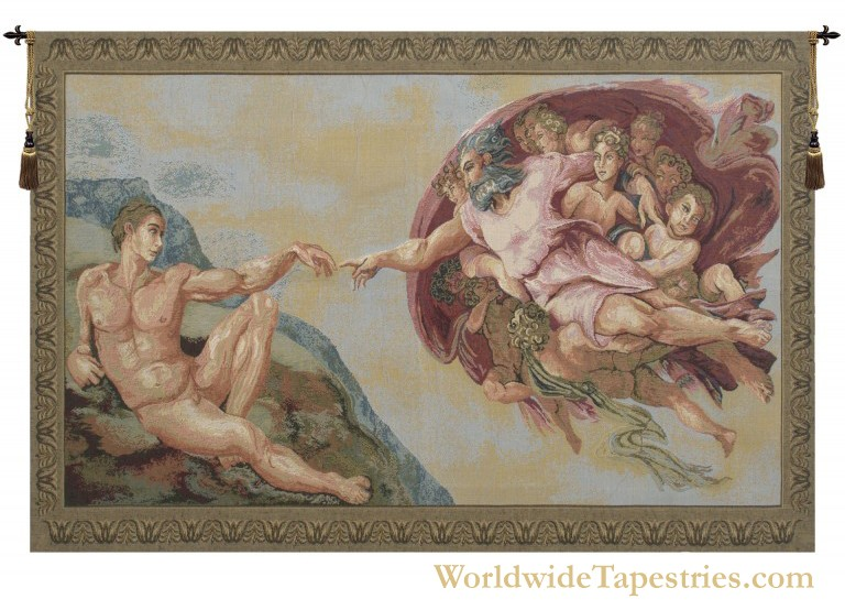 The Creation III - Michelangelo Tapestry