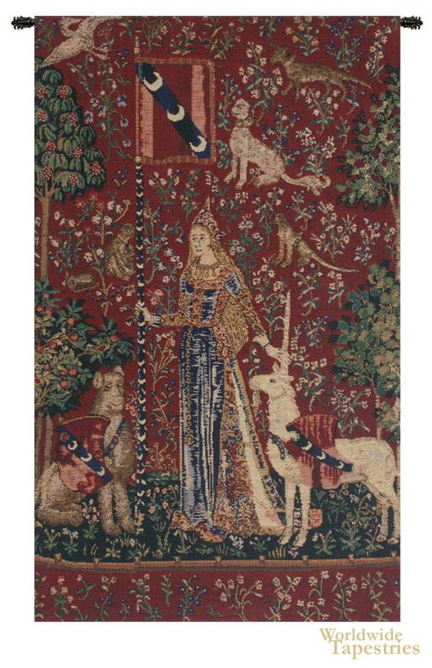 Touch (Lady and Unicorn) II Tapestry